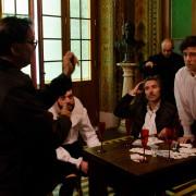 Alex Sernambi (dir. de fotografia), Ismael Canepelle, Nelson Diniz, Zé Adão Barbosa e Eduardo Cardoso (Foto: Fábio Rebelo)
