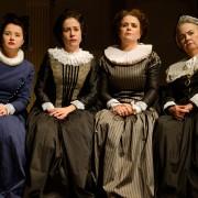 Úrsula Collischonn, Janaína Kremer, Mirna Spritzer e Irene Brietzke (as comadres da peça) (Foto: Fábio Rebelo)